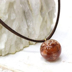 オルゴナイト ネックレス 型 金運 天然石 カーネリアン|philan