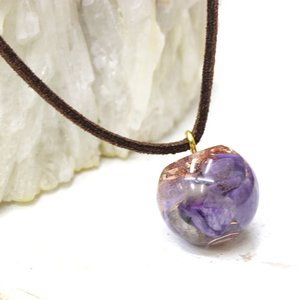 オルゴナイト ネックレス 型 金運 天然石 チャロアイト|philan