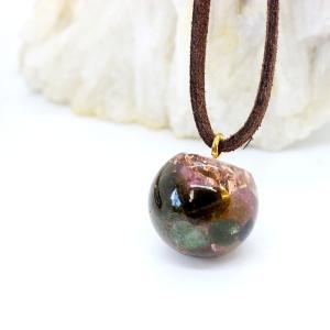 オルゴナイト ネックレス 型 金運 天然石 トルマリン|philan