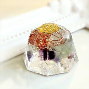 オルゴナイト 型 金運 天然石 フローライト ミニダイヤモンド型|philan