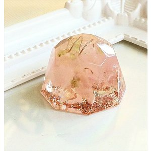オルゴナイト 型 金運 天然石 ローズクォーツ ミニダイヤモンド型|philan