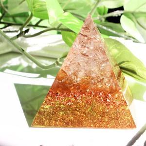 オルゴナイト 型 金運 天然石 シトリン ピラミッド型|philan