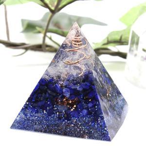 オルゴナイト 型 金運 天然石 ラピスラズリ ピラミッド型|philan