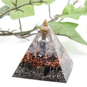 オルゴナイト 型 金運 天然石 オブシディアン テラヘルツ ラピスラズリ ピラミッド型 小瓶入り|philan