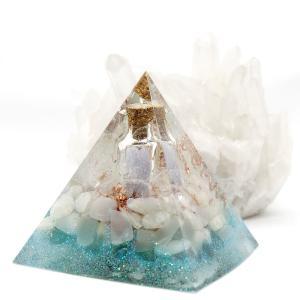 オルゴナイト 型 金運 天然石 ムーンストーン アパタイト ピラミッド型 小瓶入り|philan