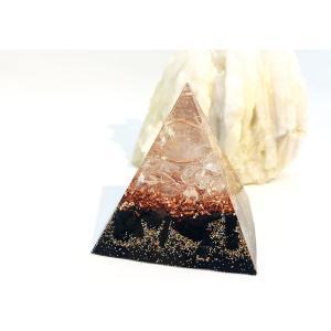 オルゴナイト 型 金運 天然石 黒水晶 モリオン ピラミッド型|philan