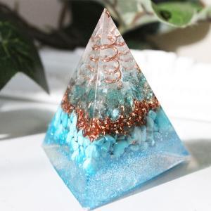 オルゴナイト 型 金運 天然石 アパタイト ターコイズ 三角錐型|philan