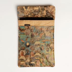 ipadやタブレットの持ち歩きに便利なタブレットケース 南アフリカ サファリ 風景コラージュ|philotrade