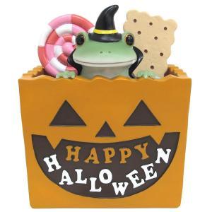 お菓子ボックスから出ているカエルがかわいい♪机の上や玄関などに飾ってお楽しみください。 製造国:中国...