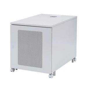奥行き900mmで奥行きのある縦型サーバーも収納できる19インチマウントボックス。高さ700mm、1...