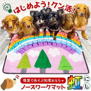犬  ノーズワークマット ノーズワーク おもちゃ 嗅覚訓練 ストレス解消 かわいい ペット用品/ノーズワークマット虹|phoenix-zakka