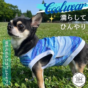 犬 クールウェア 濡らす 服 夏 クール クールベスト ひんやり 熱中症対策 お散歩 ペット 服 ペット用品/ペット用クールウェア|phoenix-zakka