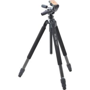 ●最大パイプ径32mmの大型カーボン三脚。 ●フルサイズデジタル一眼レフカメラや望遠レンズにもしっか...
