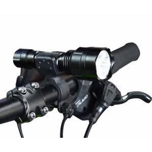 【B023】ハンディライト CREE社製LED Q5搭載モデル 充電式 充電器 ホルダー付き 軽量 LED長寿命 自転車ライト|photolife