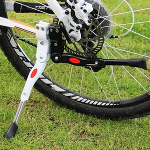 【B032】自転車用 軽量 サイドスタンド キックスタンド 長さ調節可能 <全2色>チェーンステーに固定|photolife