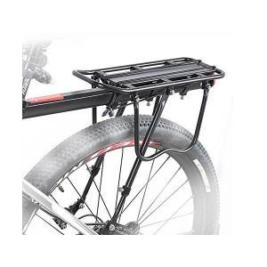 【B035】リアキャリア 後付け 自転車用荷台 耐荷重25Kg、取付け簡単!  パニアバッグ取り付け可 反射板付|photolife