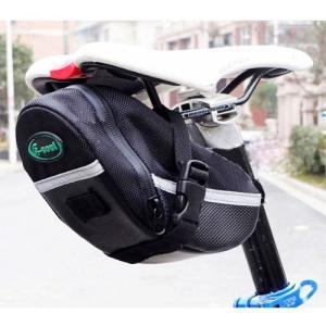 【B053】自転車用 防水 サドルバッグ リアポーチ 小物収納 / ロードバイク 等のサドル下へ簡単取り付け!|photolife