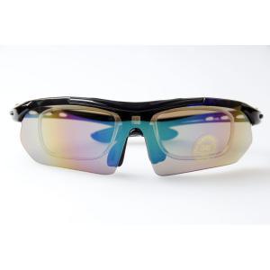 【B077】スポーツサングラス 用途に合わせて使えるレンズ5枚付き 12点セット オールマイティに使える万能サングラス!|photolife