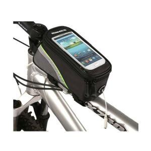 【B083】自転車フレームバッグ・トップチューブバッグ、タッチ操作対応!スマートフォンで地図を表示し、サイクリング走行に便利!|photolife