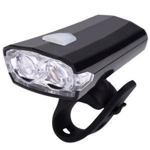 【B095】自転車用ヘッドライト ホルダー付き 軽量 LED繰返し充電式 USB充電 LED長寿命 取付工具不要 耐水性で安心☆ 夜間走行中の事故防止に!|photolife