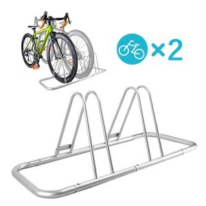 【B121】 2台用自転車スタンド NinoLite 直角 又は 斜め収納でスペース節約!バイクスタ...