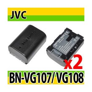 ビクターJVC(Victor) BN-VG107/BN-VG108互換バッテリーの2個セット