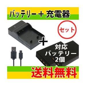 DC109 USB型充電器BC-120L+カシオNP-120互換バッテリー2個の3点セット