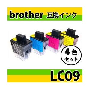 「4色セット」ブラザー(brother) LC094PK互換インク LC09BK・LC09C・LC09M・LC09Y|photolife