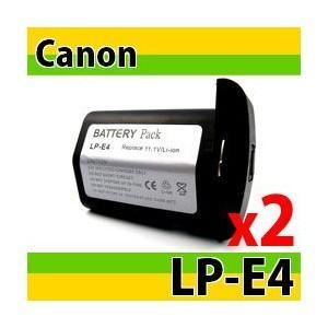 キヤノン(Canon) LP-E4互換バッテリー 2個セット EOS-1D Mark IV/EOS-1D Mark III