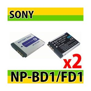 ソニー(Sony) NP-BD1/NP-FD1互換バッテリー 2個セット photolife