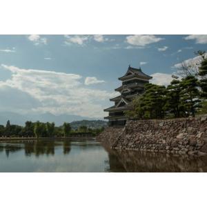 松本城と青空ポストカード|photoroom-g
