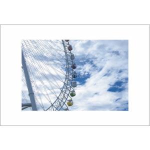 観覧車と雲・遊園地ポストカード|photoroom-g