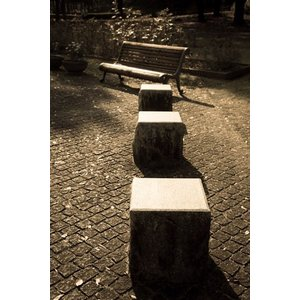 石の椅子ポストカード|photoroom-g