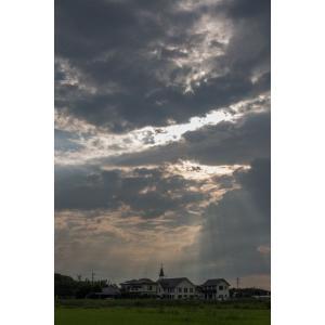 教会と天使の梯子ポストカード|photoroom-g
