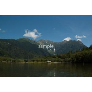 焼岳と雲と大正池(上高地)ポストカード|photoroom-g