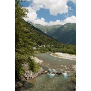 梓川の流れ(上高地)ポストカード|photoroom-g