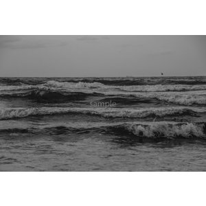 海と雲・モノクロポストカード photoroom-g