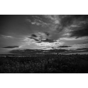 日の入り・モノクロポストカード photoroom-g