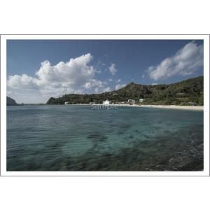 小笠原大村海岸の澄んだ海ポストカード|photoroom-g