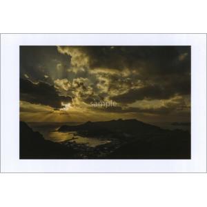小笠原長崎展望台夕日のポストカード|photoroom-g