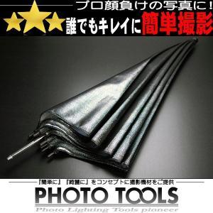 90cm アンブレラ 黒/シルバー 強力反射タイプ   ●撮影セット 撮影キット p011|phototools