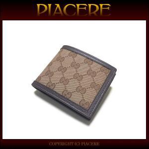 グッチ 二つ折り財布 GUCCI 260987 KY9LN 9903 メンズ 送料無料 新品 セール|piacere-jp