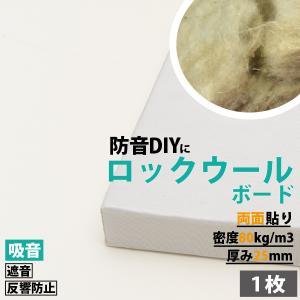防音パネル 防音ボード 吸音 防音 DIY 遮音 騒音対策 ピアリビング ロックウールボード 密度80kg/m3 ガラスクロス両面貼り 白 605×910mm 厚さ25mm 1枚|pialiving