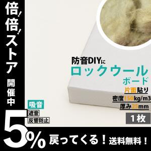 防音パネル 防音ボード 吸音 防音 DIY 遮音 騒音対策 ピアリビング ロックウールボード 密度150kg/m3 ガラスクロス片面貼り 白 605×910mm 厚さ25mm 1枚|pialiving