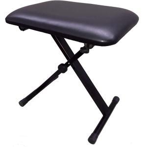 キーボードベンチ X型ピアノ椅子|PC-150BK ブラック(中古)の画像