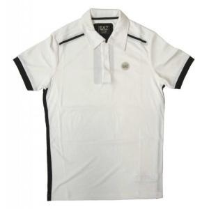 アルマーニ ポロシャツ (ホワイト) Lサイズ 速乾素材 ゴルフ用 EA7|piazza