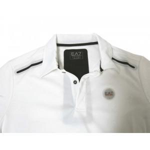 アルマーニ ポロシャツ (ホワイト) Lサイズ 速乾素材 ゴルフ用 EA7 piazza 03