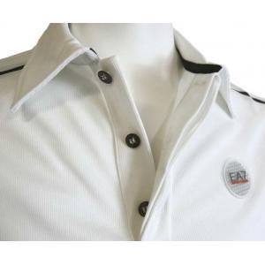 アルマーニ ポロシャツ (ホワイト) Lサイズ 速乾素材 ゴルフ用 EA7 piazza 04