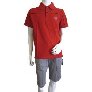 アルマーニ <訳ありお値引>ポロシャツ レッド ゴルフ メンズ エンポリオアルマーニ EA7 *ラッピング不可(*通常包装のみ)|piazza