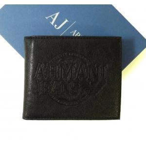 アルマーニ 財布 メンズ ジーンズ 二つ折 *箱傷あり|piazza